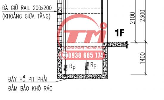 Bản vẽ hố PIT thang máy
