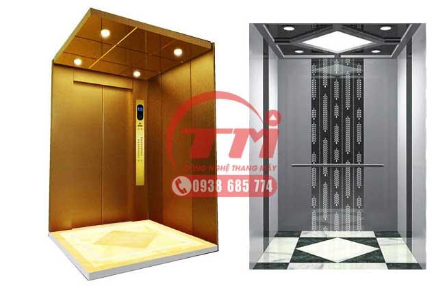 Nội thất cabin thang máy gia đình 350kg